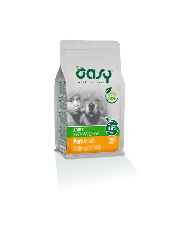 Oasy Dog OAP Medium Large Adult Maiale 2.5 kg