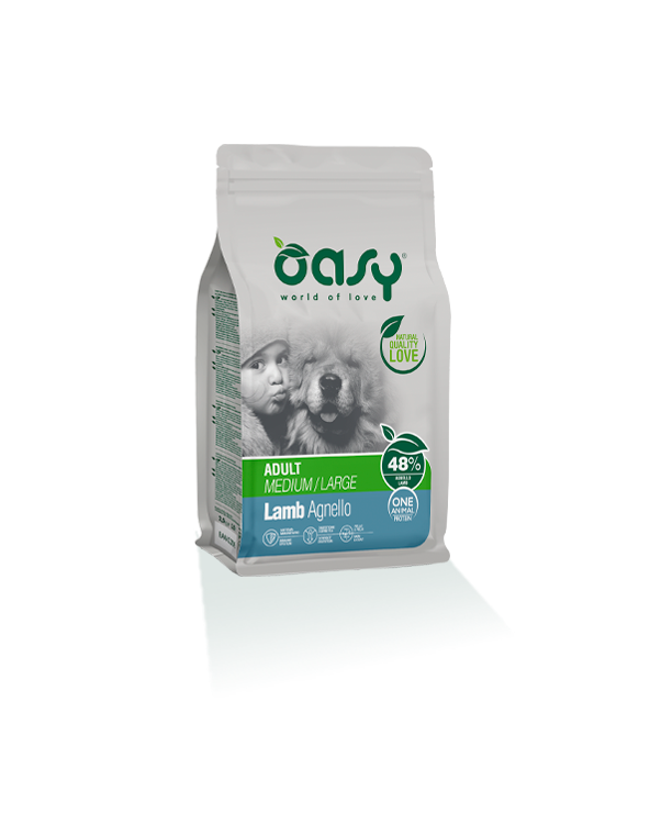 Oasy Dog OAP Adult Medium Large Agnello 12 kg