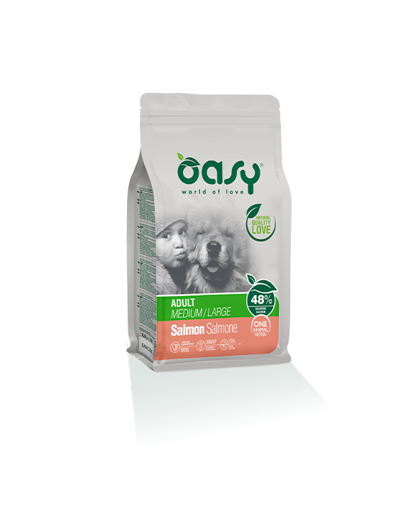 Oasy Dog OAP Adult Medium Large Salmone 12 kg