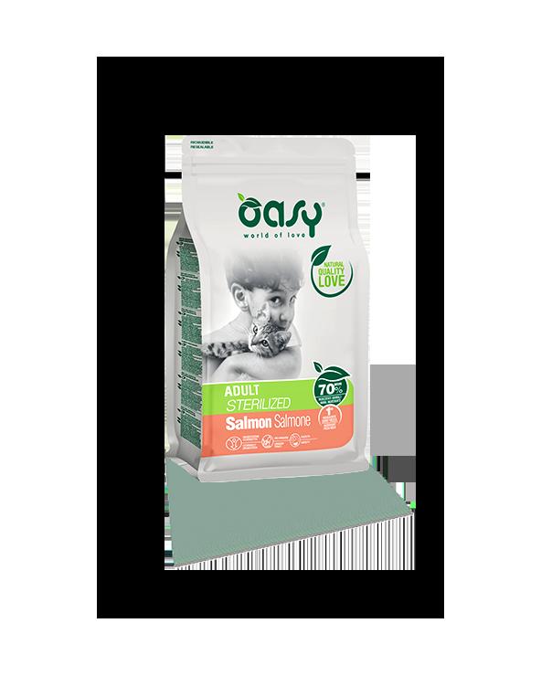 Oasy Cat Adult Sterilised Salmone 7.5 kg