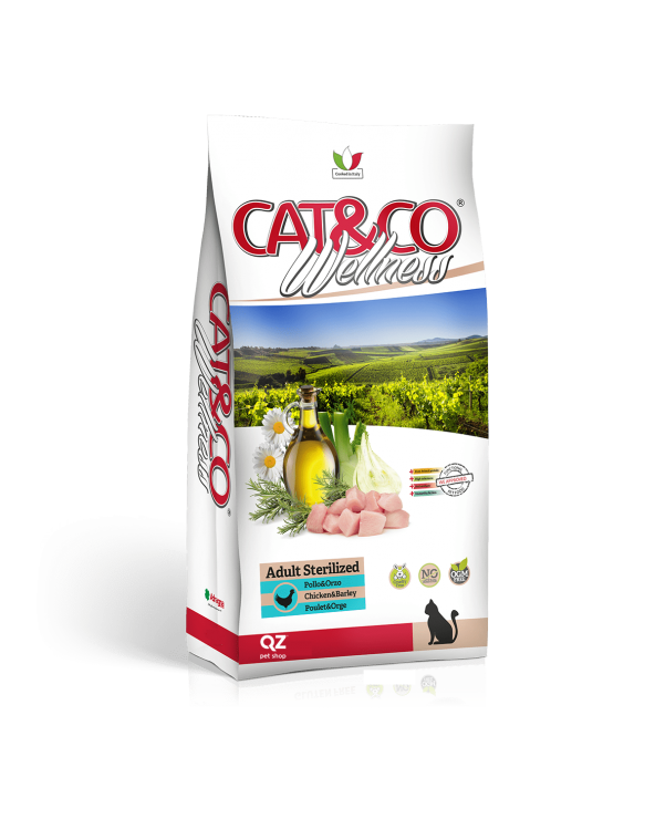 Cat & Co Wellness Adult Sterilised con Pollo e Orzo 1.5 kg