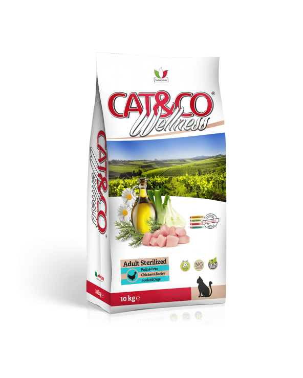 Cat & Co Wellness Adult Sterilised con Pollo e Orzo 10 kg