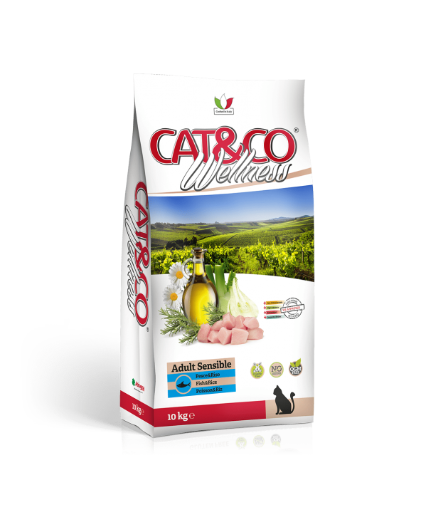 Cat & Co Wellness Adult Sensible con Pesce e Riso 10 kg