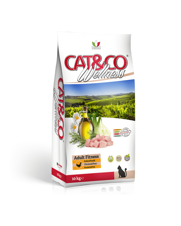 Cat & Co Wellness Adult Fitness con Pollo e Riso 1.5 kg