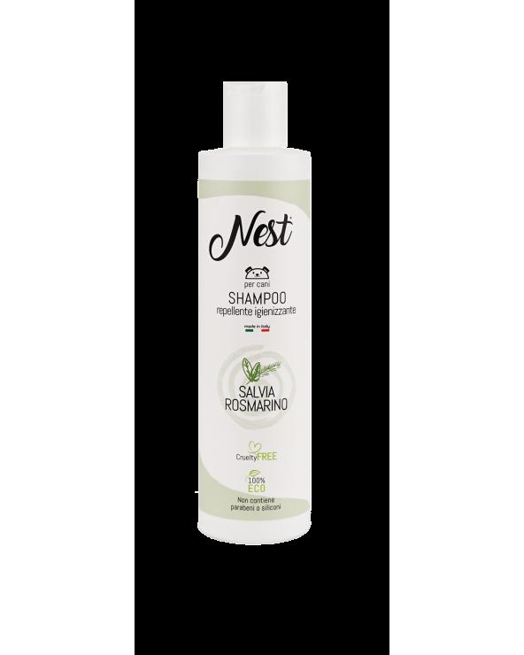 Nest Shampoo per Cani Repellente Igienizzante con Salvia e Rosmarino 250 ml