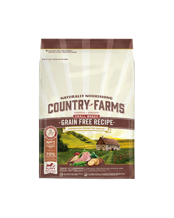 Country Farms Grain Free Recipe Puppy Small Tacchino 2.5 kg