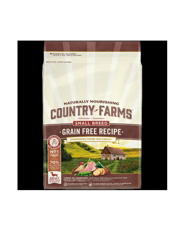 Country Farms Grain Free Recipe Adult Small Tacchino 7 kg
