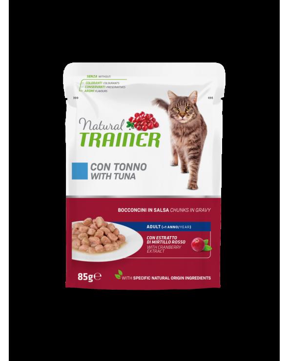 Natural Trainer Cat Adult con Tonno Bocconcini in Salsa 85 g