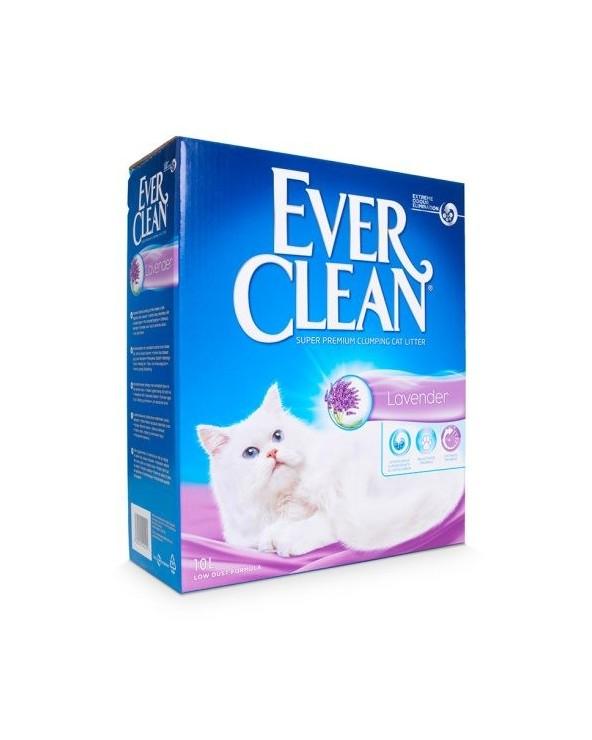 Ever Clean Lavender Lettiera Agglomerante Profumata per Gatti 10 Lt