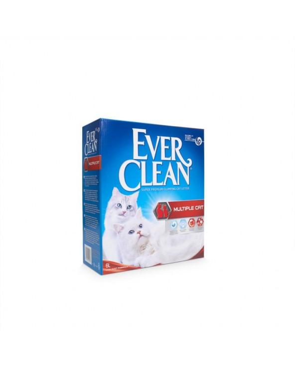 Ever Clean Multiple Cat Lettiera Agglomerante per Gatti 6 Lt