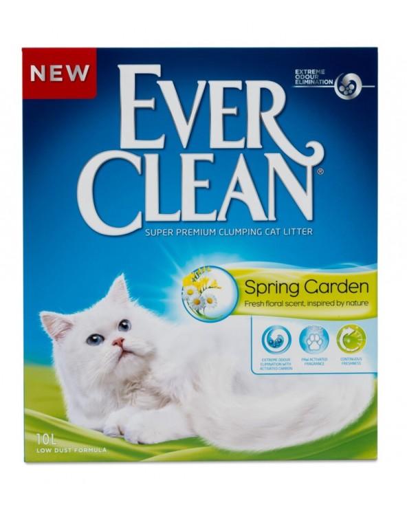 Ever Clean Spring Garden Lettiera Agglomerante Profumata per Gatti 10 Lt
