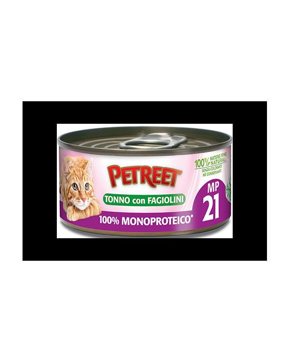 Petreet Natura 100% Monoproteico MP20 Tonno con Fagiolini Lattina 60 g
