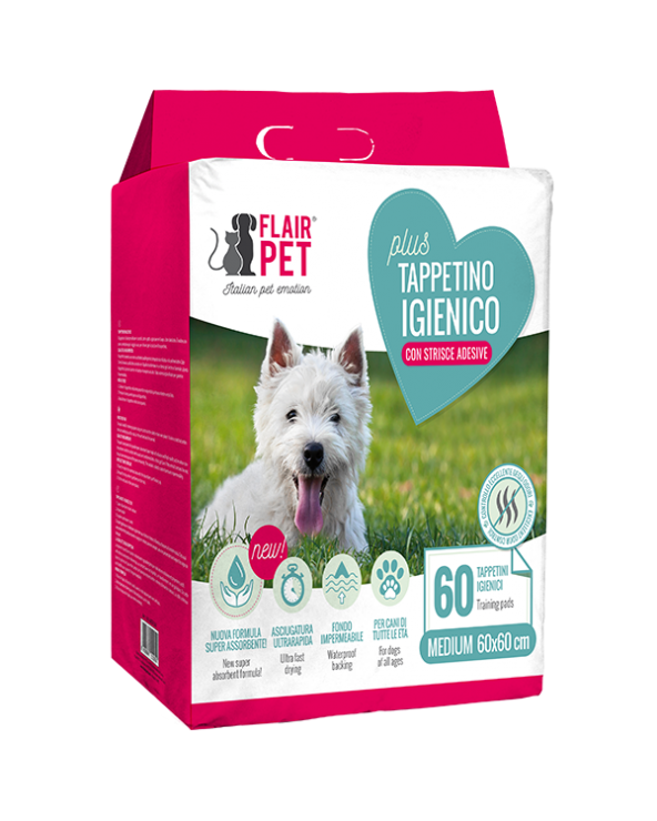 Flair Pet Tappetini Assorbenti Plus 60x60 30 pz