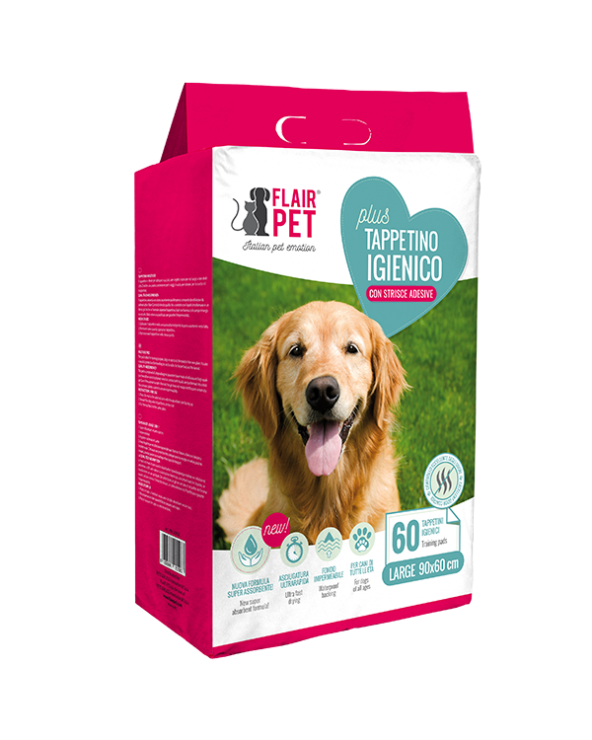 Flair Pet Tappetini Assorbenti Plus 60x90 30 Pz