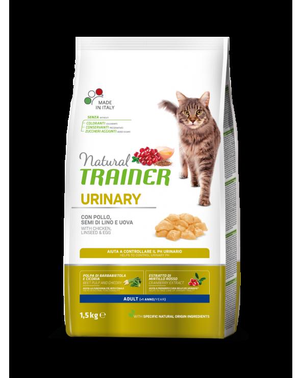 Natural Trainer Cat Urinary Adult con Pollo Semi di Lino e Uova 1.5 kg