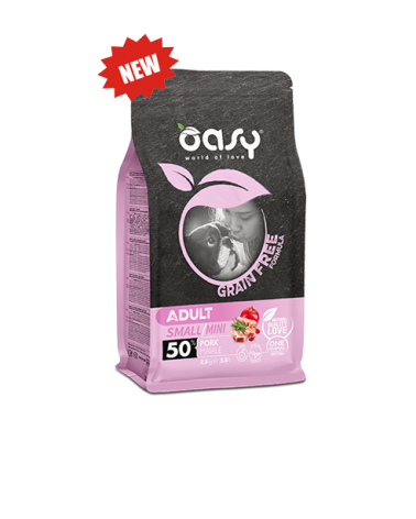 Oasy Dog Grain Free Adult Small e Mini Maiale 800 g