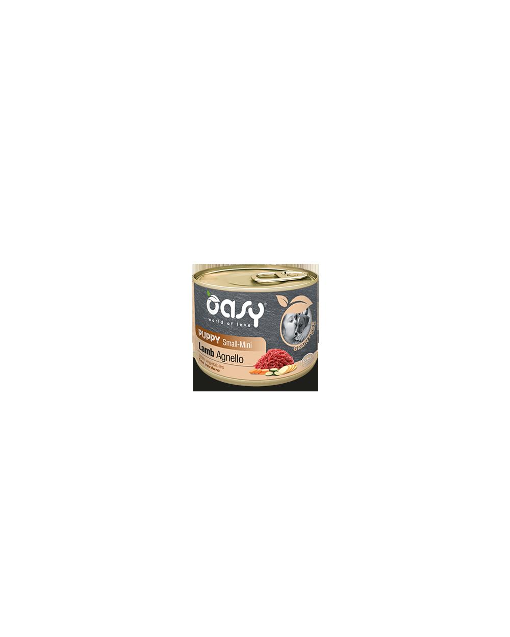Oasy Dog Grain Free Puppy e Junior Small Mini Monoproteico Agnello