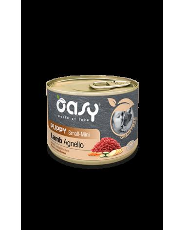 Oasy Dog Grain Free Puppy e Junior Small Mini Monoproteico Agnello e Verdure Lattina 200 g