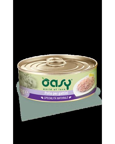 Oasy Cat Specialità Naturali Pollo per Gattini Lattina 150 g