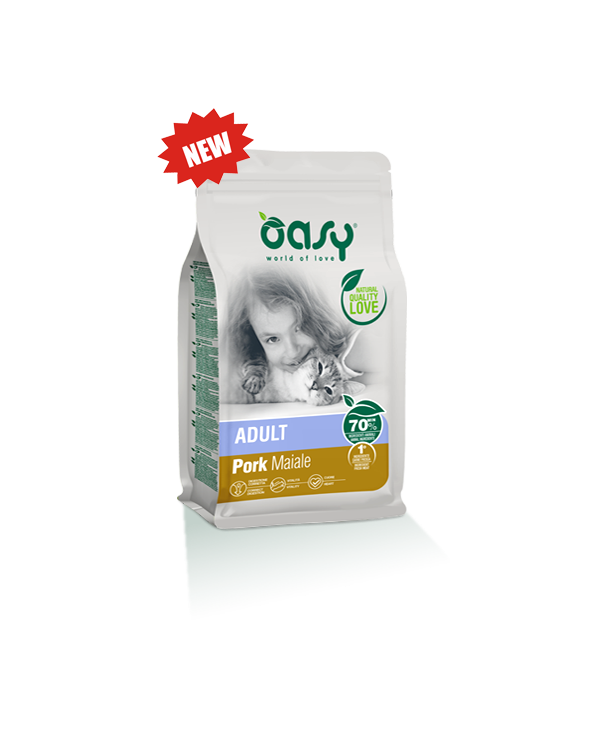 Oasy Cat Adult Maiale 1,5 kg
