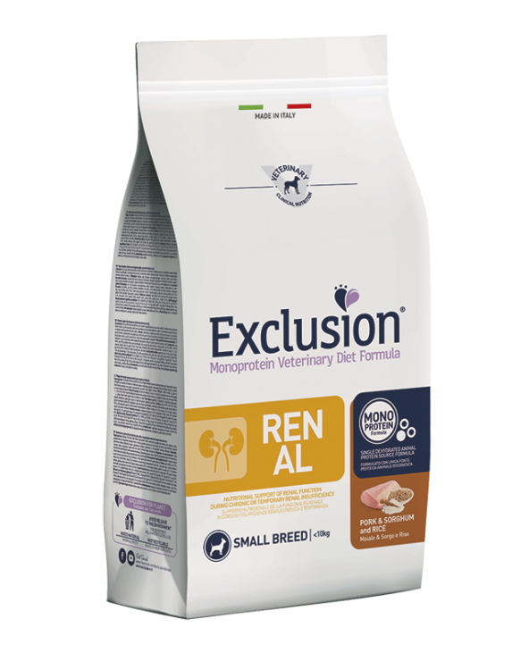 Exclusion Dog Diet Adult Small Breed Pork Sorghum and Rice 2 kg