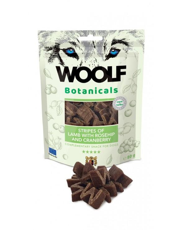 Woolf Snack Botanicals Strisce di Angello Rosa Canina e Mirtilli Rossi 80g