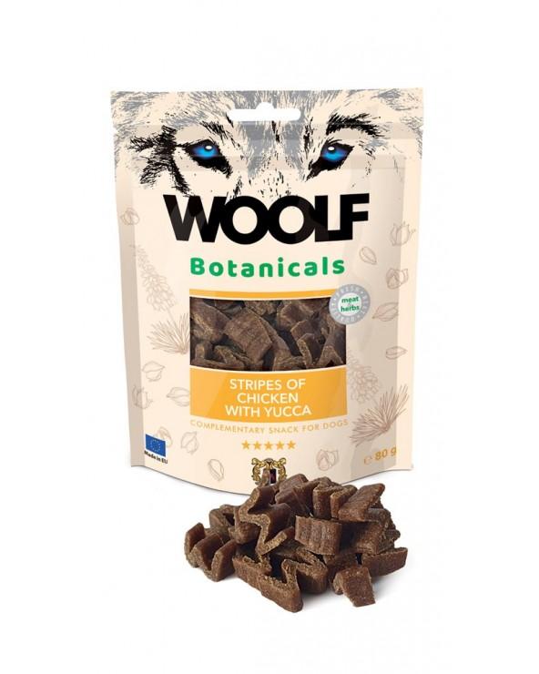 Woolf Snack Botanicals Strisce di Pollo e Yucca 80g