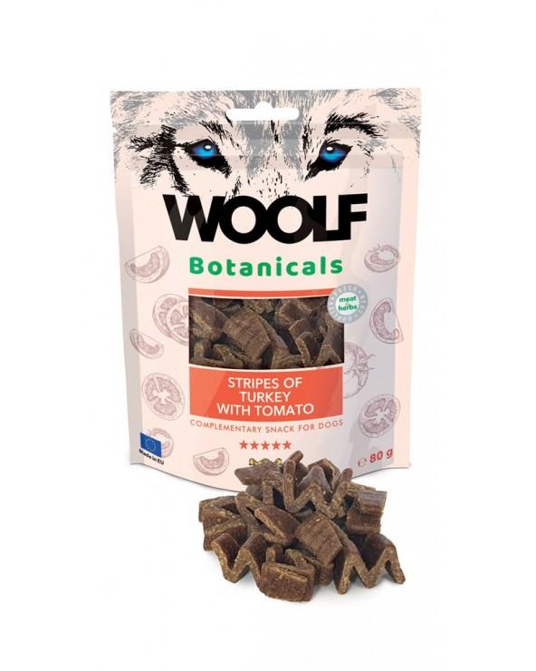 Woolf Snack Botanicals Strisce di Tacchino e Pomodoro 80g