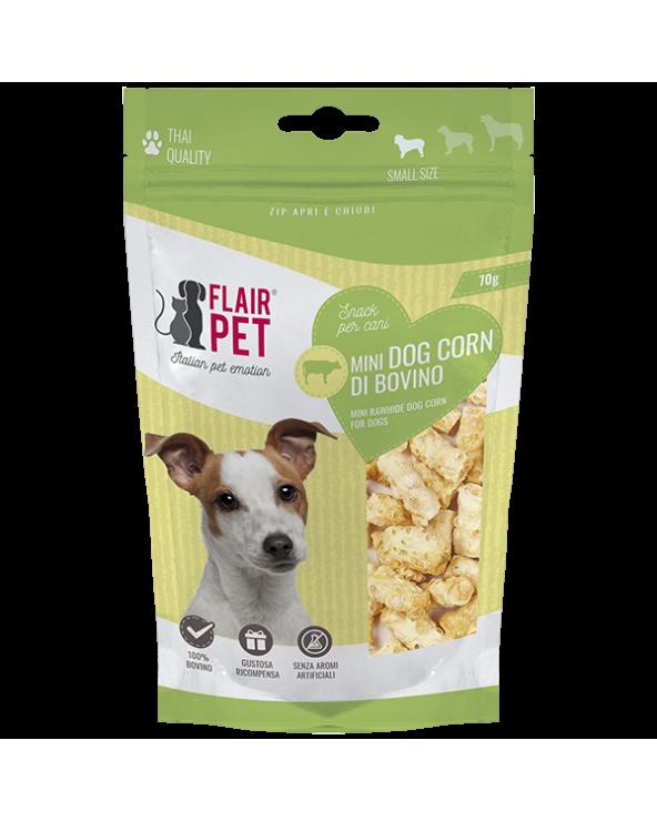 Flair Pet Snack per Cani Mini Bastoncini in Pelle Bovina Croccanti 70g