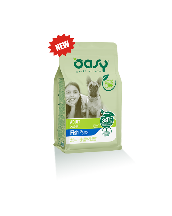 Oasy Dog Adult Small con Pesce 1 Kg