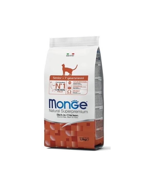 Monge Cat Senior con Pollo 1,5 kg