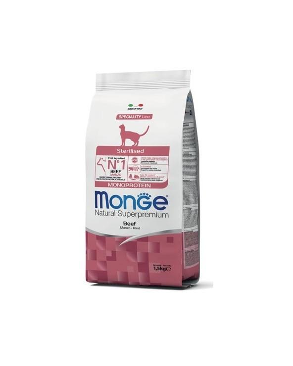 Monge Cat Adult Sterilised Monoproteico con Manzo 1,5 kg