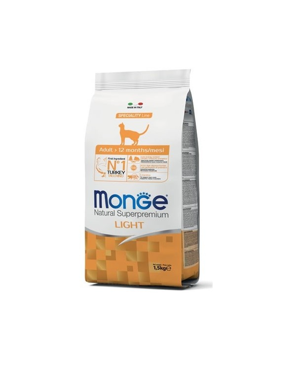 Monge Cat Adult Light con Tacchino 1,5 kg