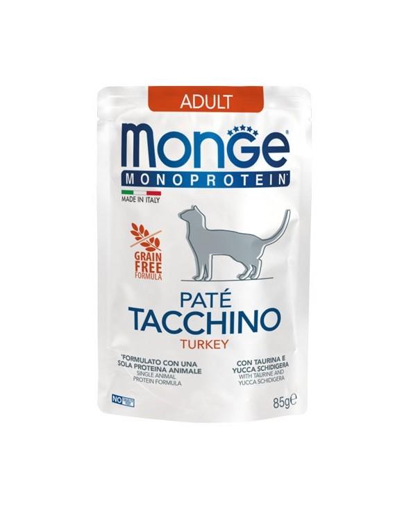 Monge Cat Patè Monoproteico Adult Tacchino Bustina 85 g
