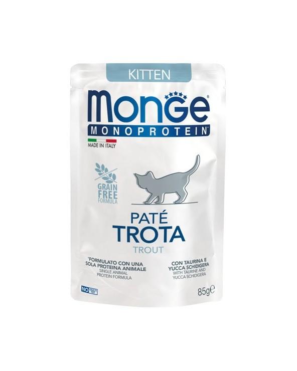 Monge Cat Patè Monoproteico Kitten Trota Bustina 85 g