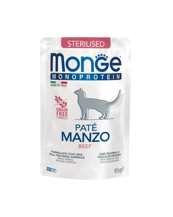 Monge Cat Patè Monoproteico Adult Sterilised Pollo Bustina 85 g