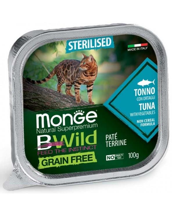 Monge Cat BWild Adult Sterilized Patè con Tonno e Ortaggi Vaschette 100 g