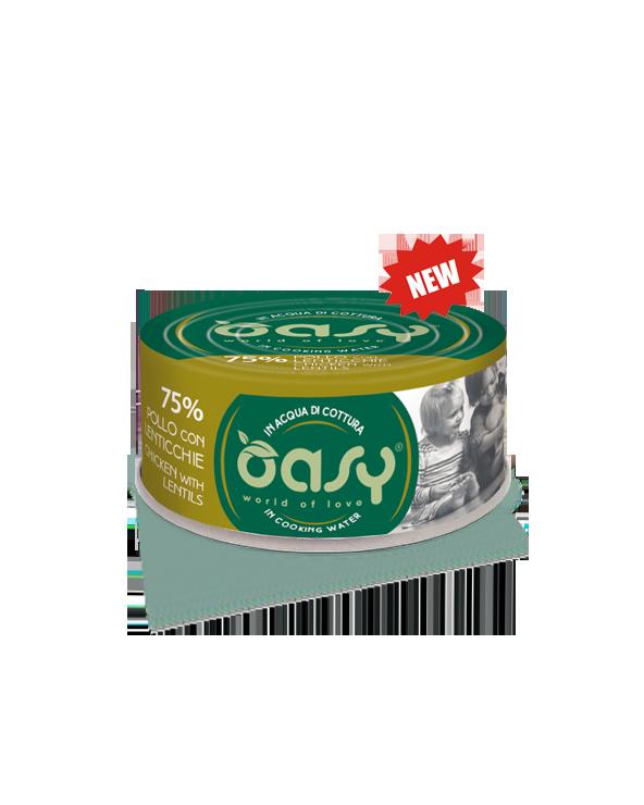 Oasy Cat More Love Pollo con Lenticchie Lattina 70 g