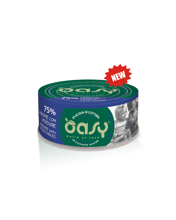 Oasy Cat More Love Sardine e Verdure Lattina 70 g