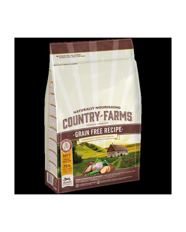Country Farms Grain Free Recipe Puppy & Junior Pollo 2.5 kg