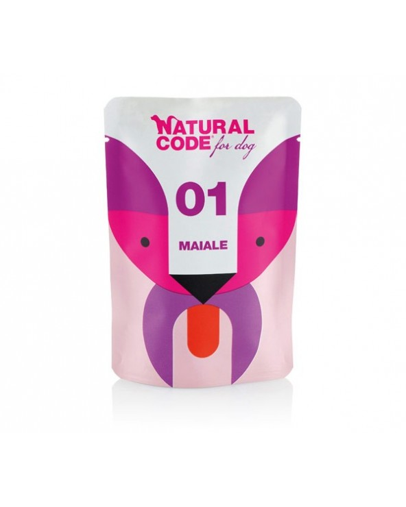 Natural Code Dog P01 Adult Maiale Soft Jelly Bustina 100 g