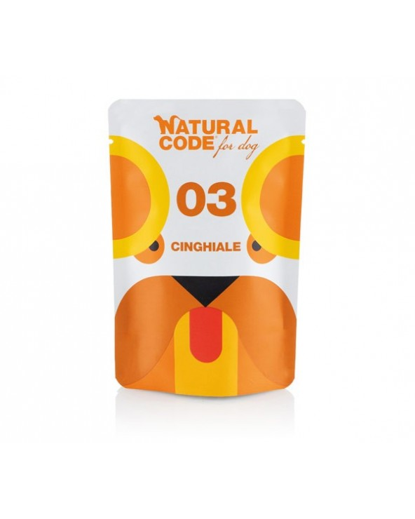 Natural Code Dog P03 Adult Cinghiale Soft Jelly Bustina 100 g