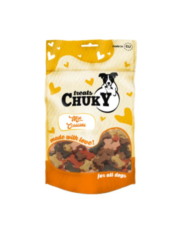Chuky Treat Snack per Cani MIx Ossicini Multigusto 100g