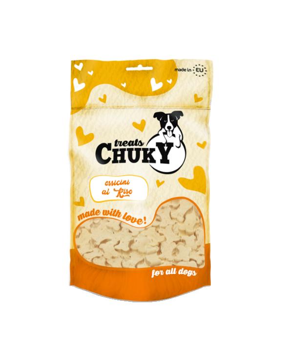 Chuky Treat Snack per Cani Mini Ossicini con Riso 100g