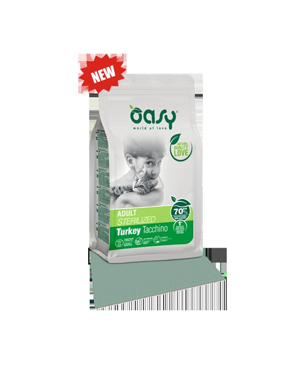 Oasy Cat Adult Sterilized con Tacchino 1.5 kg