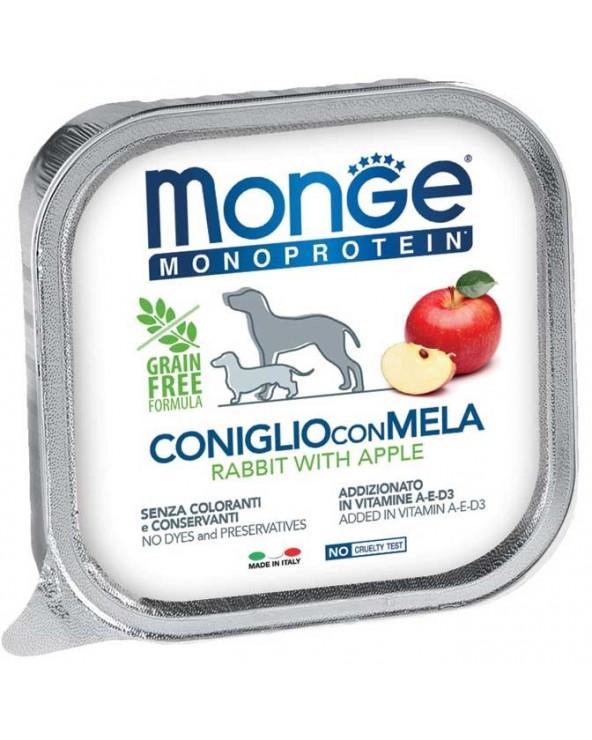 Monge Dog Patè Monoproteico Coniglio e Mela Vaschetta in Patè 150 g