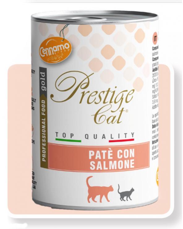 Prestige Cat Adult con Salmone Lattina in Patè 400 g