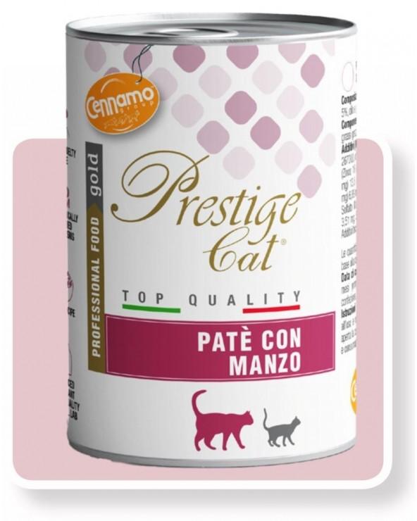 Prestige Cat Adult con Manzo Lattina in Patè 400 g