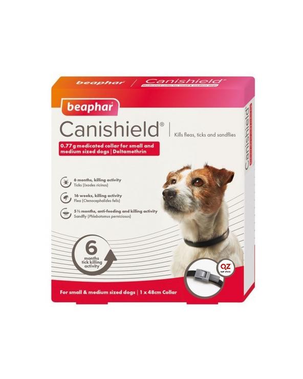 Beaphar CaniShield Collare Antiparassitario Deltametrina Taglia piccola e media 48 cm