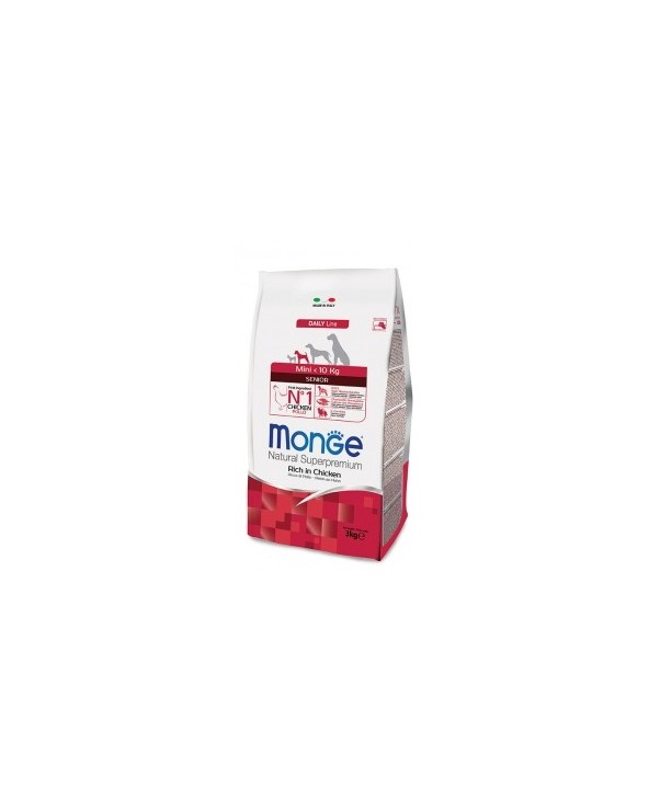 Monge Dog Natural Mini Senior Ricco di Pollo 3kg